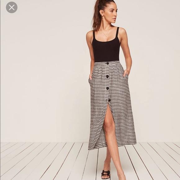 018bac10fd Reformation Skirts | Valenti Midi Skirt | Poshmark